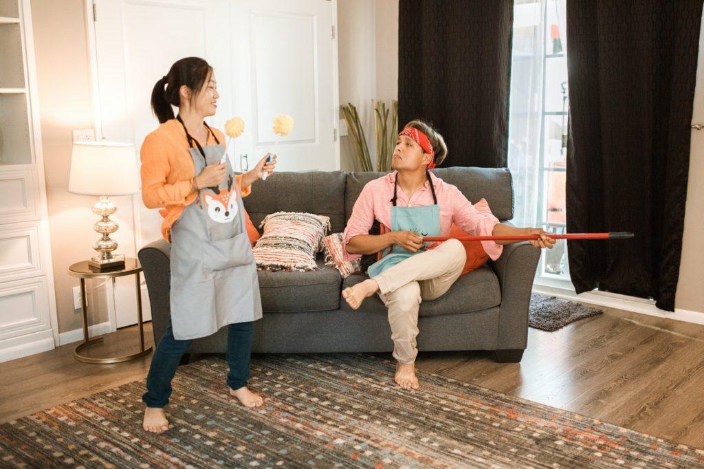 Smettere di litigare per i lavori di casa oggi