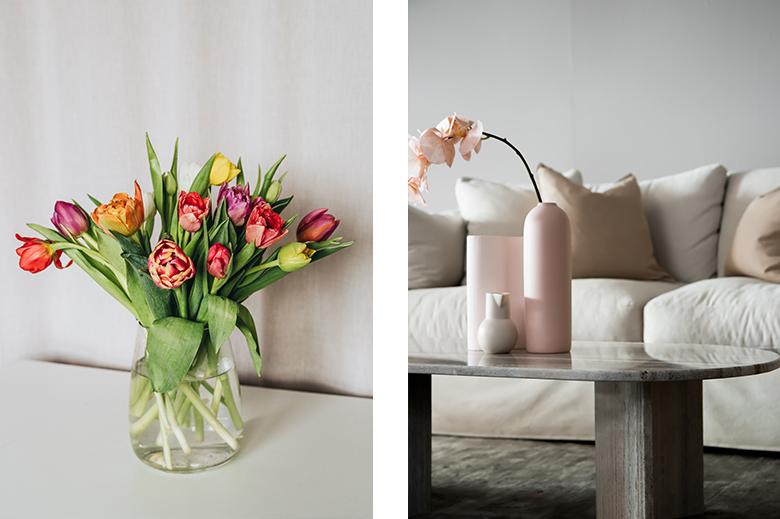 decorazione rosa cipria, fiori sul tavolo